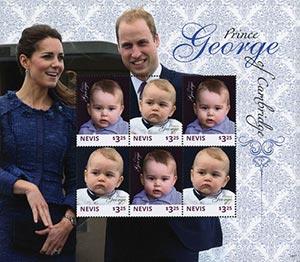 2014 Nevis $3.25 Prince George