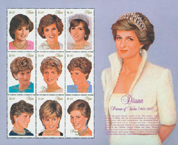 Nevis Princess of Wales Memorial Sheet