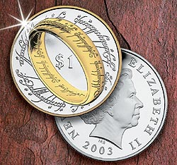 2003 Lord of Rings $1 The One Ring Silver Cn