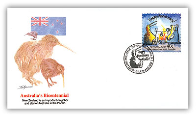 1988 New Zealand Joint Issue First Day Cover