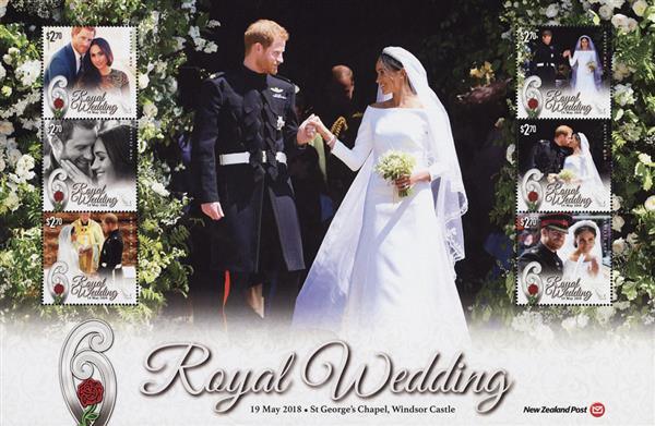 2018 $2.70 Royal Wedding of Prince Harry and Meghan sheet of 6