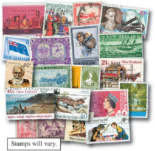 New Zealand 500 stamps used