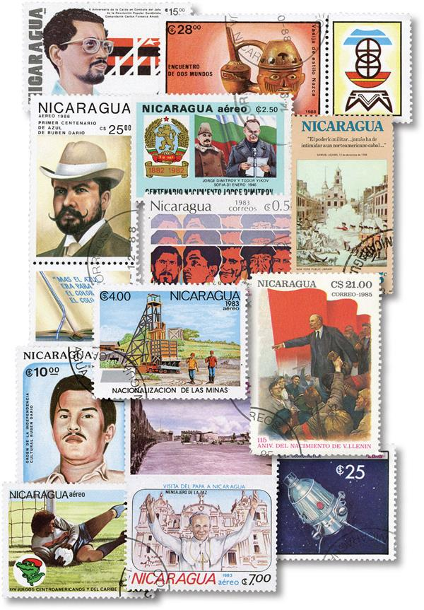 Nicaragua 290 Different Stamps