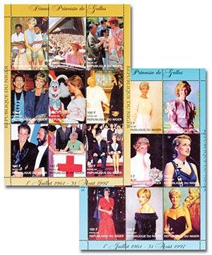 Niger Diana 2 Sheetlets