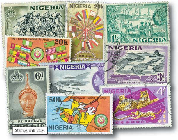 Nigeria set of 25, Used