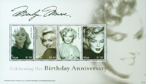 2007 Niue Marilyn Monroe 4v