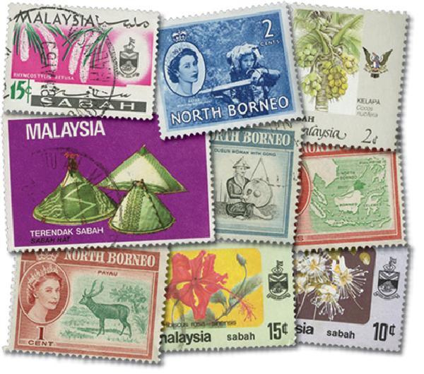 North Borneo & Sabah, 25v