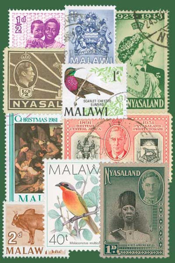 Nyasaland & Malawi, 25 stamps