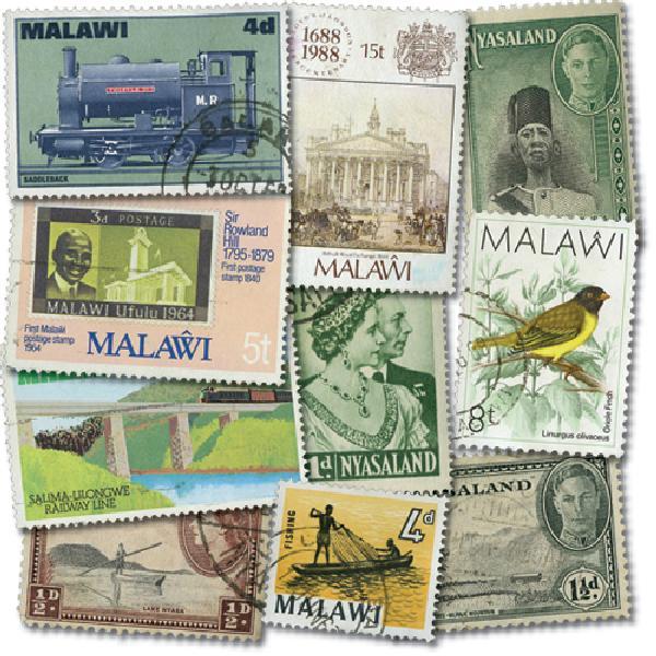 Nyasaland & Malawi, 100v