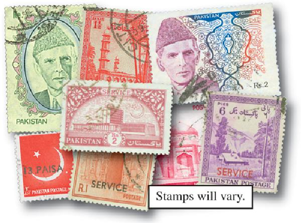Pakistan, 95 different stamps