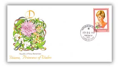 1998 Palau Tribute to Princess Diana FDC