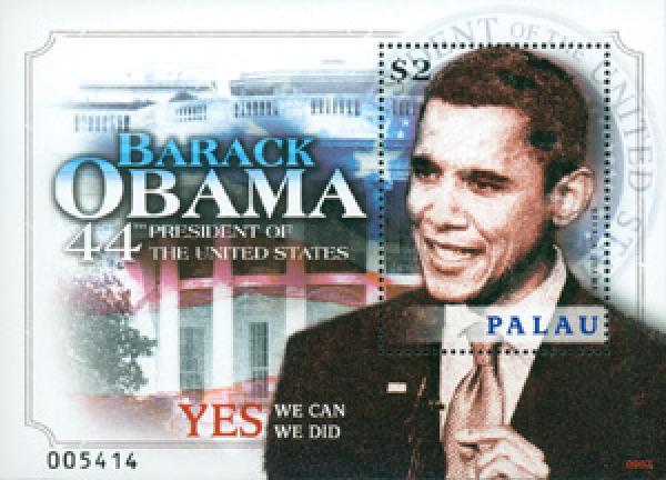 2009 Palau President Obama s/s