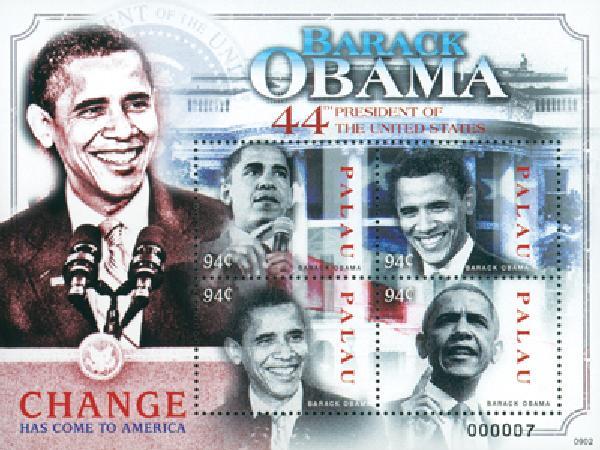 2009 Palau President Obama 4v M