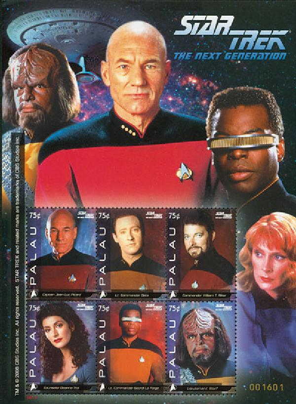 2008 Palau Star Trek 6v M