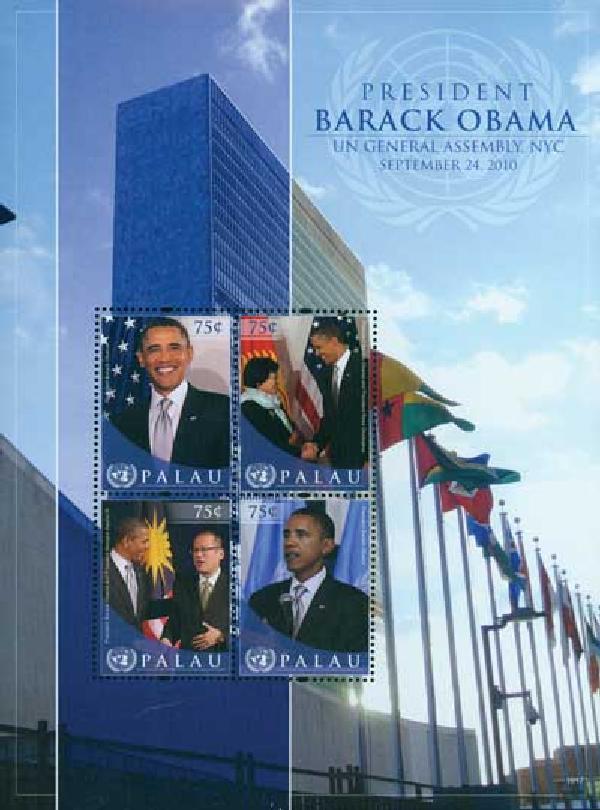 2010 Palau Barack Obama UN 4v M
