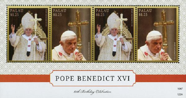 2012 Palau Pope Benedict 85th bday shee