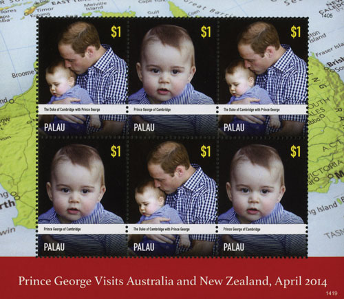 Palau $1 The Duke of Cambridge with Prince George