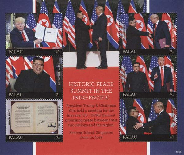 2018 $1 President Trump and Chairman Kim at the Historic Peace Summit sheet of 6