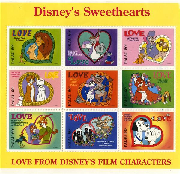 Palau 1996 Disneys Sweethearts