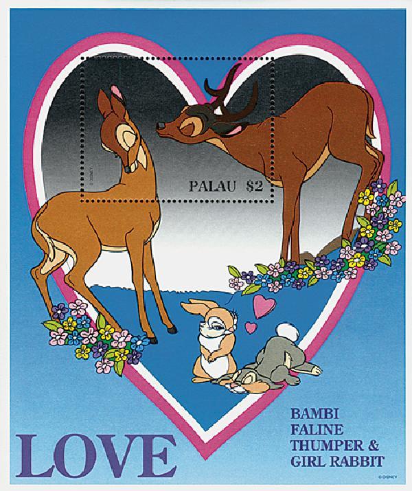 Palau 1996 Bambi & Faline, Mint S/S