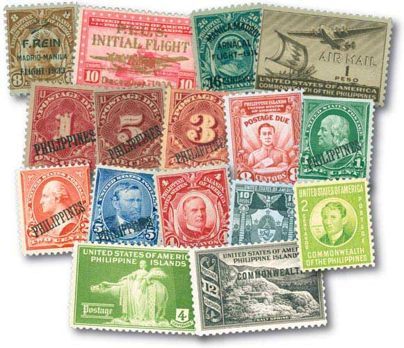1899-1941 Philippines, Set of 20 Unused Stamps