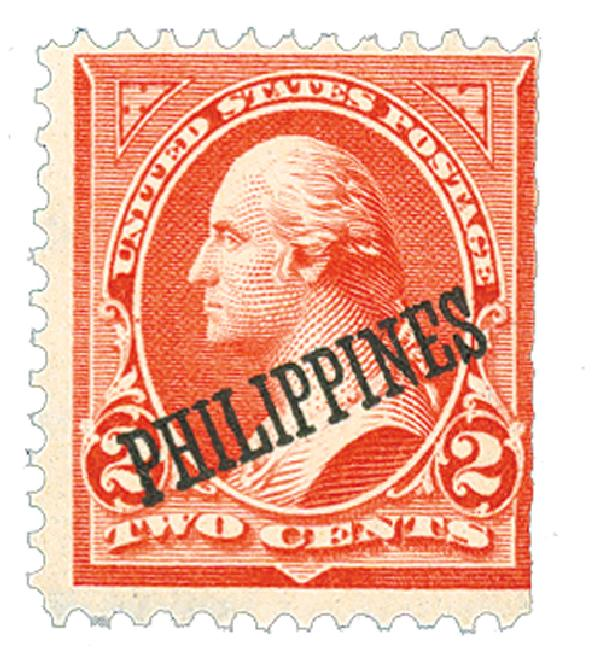 1899 2c Philippines, red, type IV, double-line watermark USPS