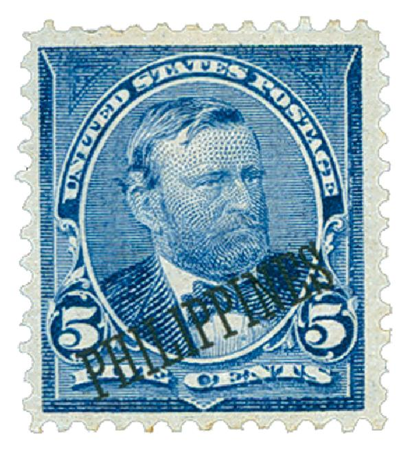 1899 5c Philippines, blue, double-line watermark USPS