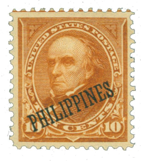 1899 10c Philippines, orange brown, type II, double-line watermark USPS