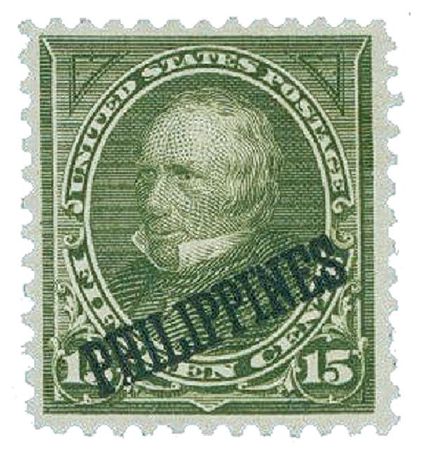 1899 15c Philippines, olive green, double-line watermark USPS