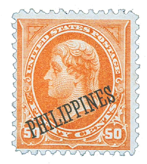 1899 50c Philippines, orange, dk watermark USPS