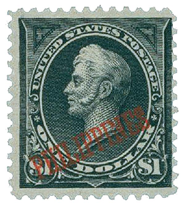 1901 $1 Philippines, black, on US #'s 276, 276A, 277a, 278