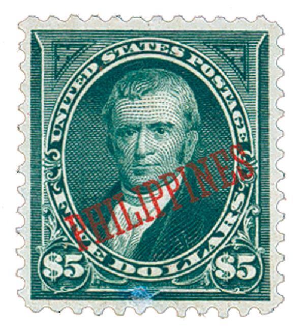 1901 $5 Philippines, dark green, US #278