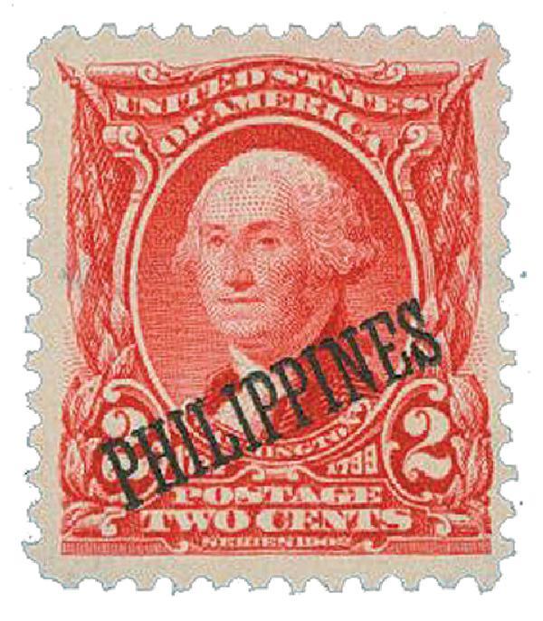1903-04 2c Philippines, carmine, US #s 300-310