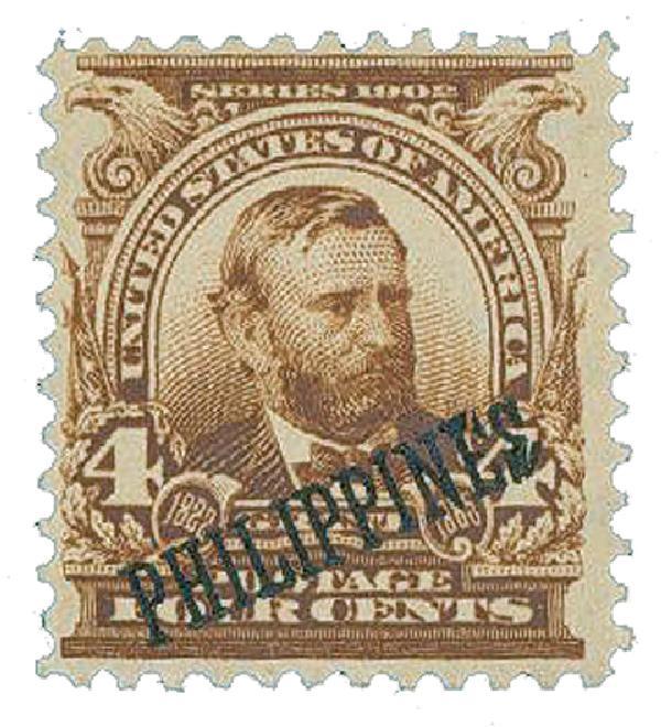 1903-04 4c Philippines, brown, US #s 300-310