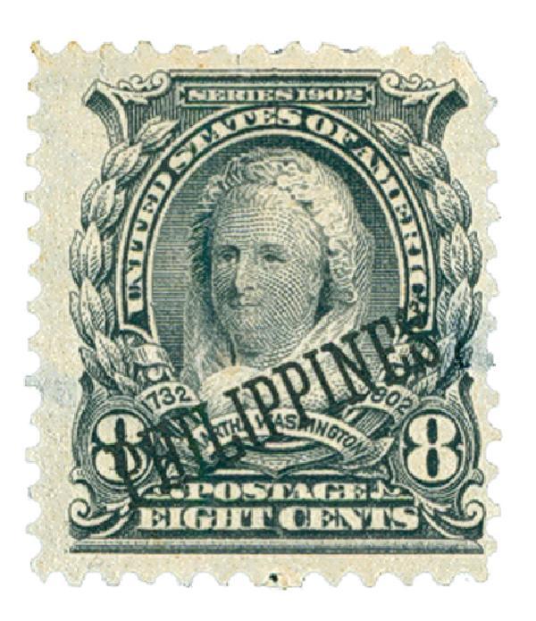 1903-04 8c Philippines, violet black, US #s 300-310