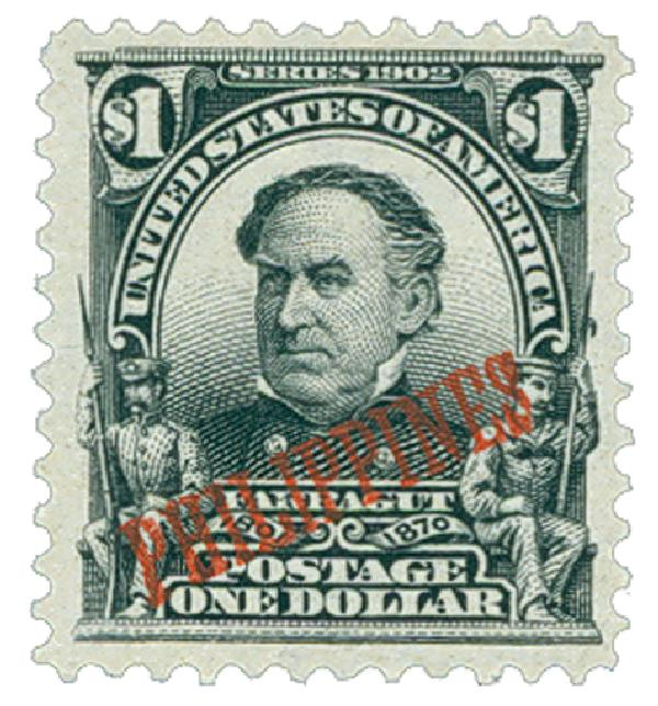 1903-04 $1 Philippines, black