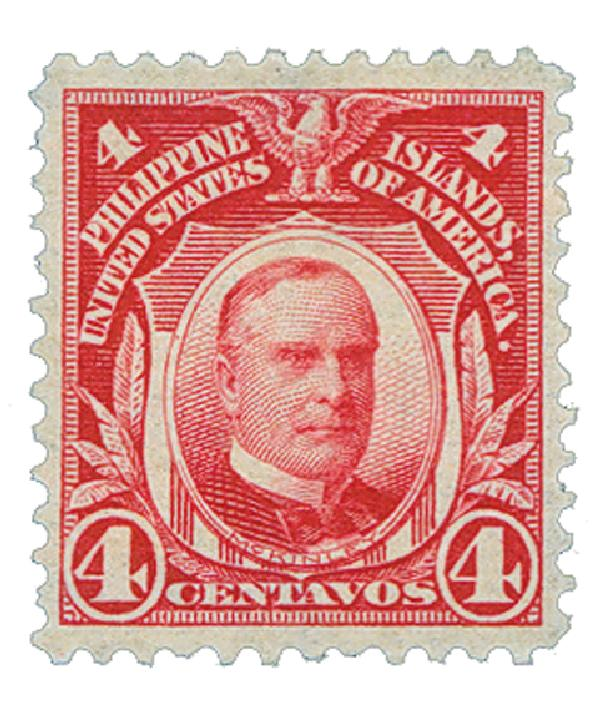 1906 4c Philippines, carmine, double-line watermark, perf 12