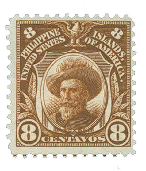 1906 8c Philippines, brown