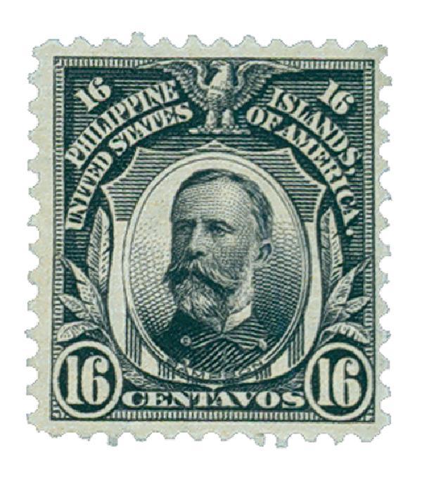1906 16c Philippines, violet black, double-line watermark, perf 12