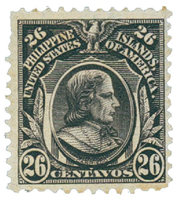 1906 26c Philippines, violet brown, double-line watermark, perf 12