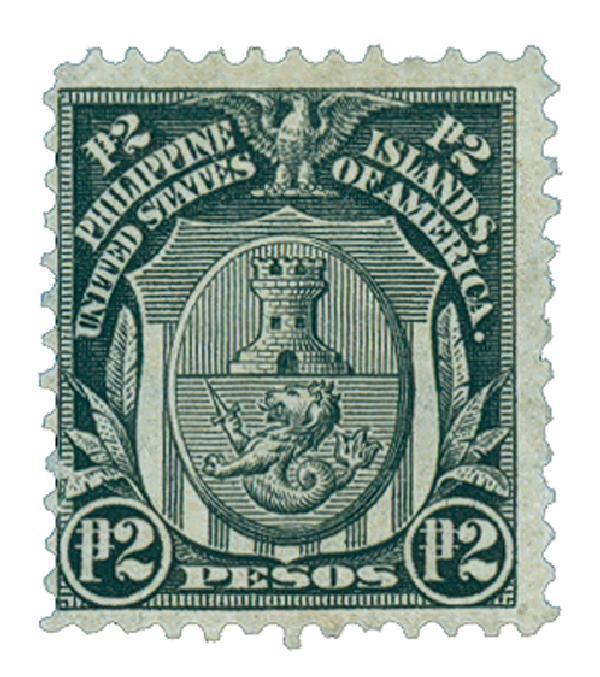 1906 2p Philippines, black, double-line watermark, perf 12