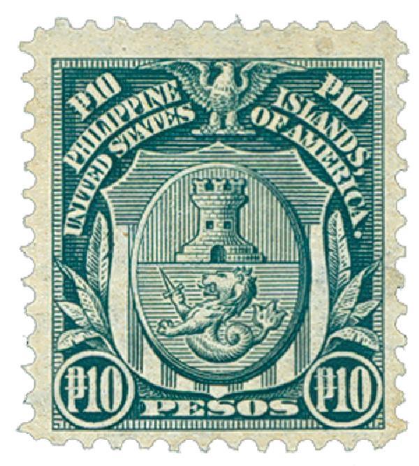 1906 10d Philippines, dark green