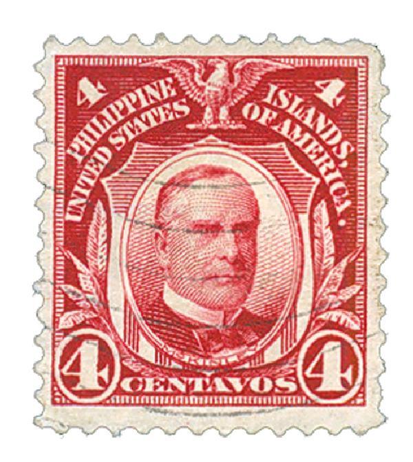 1911 4c Philippines, carmine lake