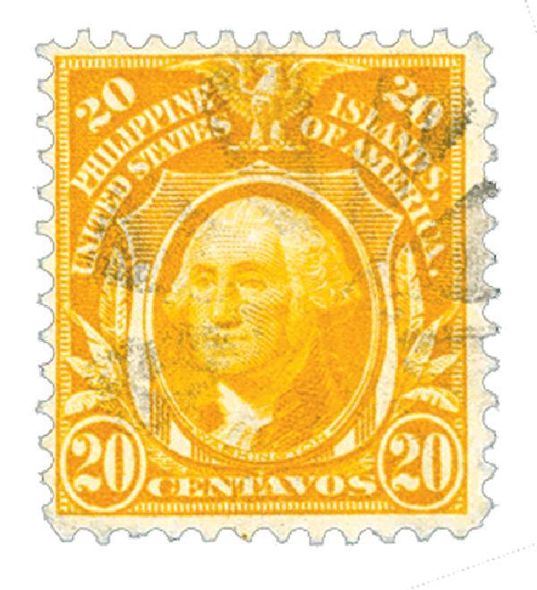1911 20c Philippines, yellow