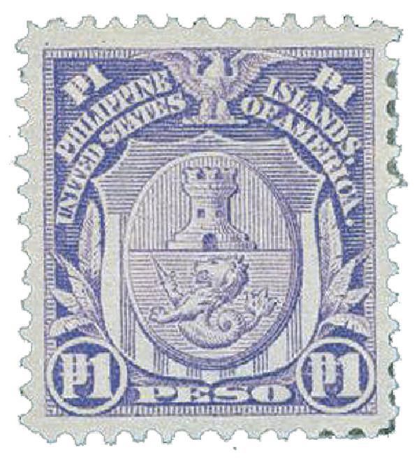 1911 1p Philippines, pale violet, single-line watermark, perf 12