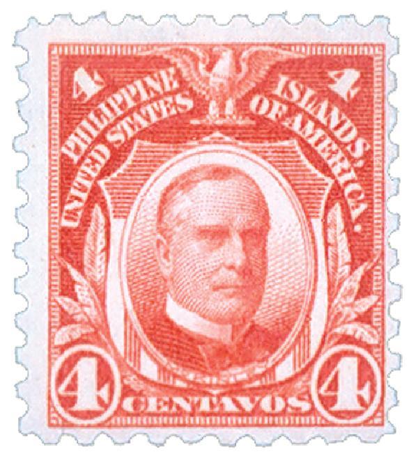 1914 4c Philippines, carmine, single-line watermark, perf 10