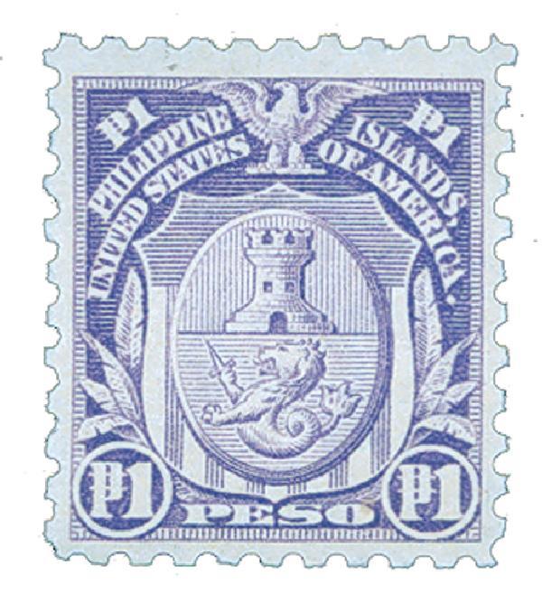 1914 1p Philippines, pale violet, single-line watermark, perf 10