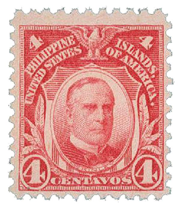 1917 4c Philippines, carmine, unwatermarked, perf 11