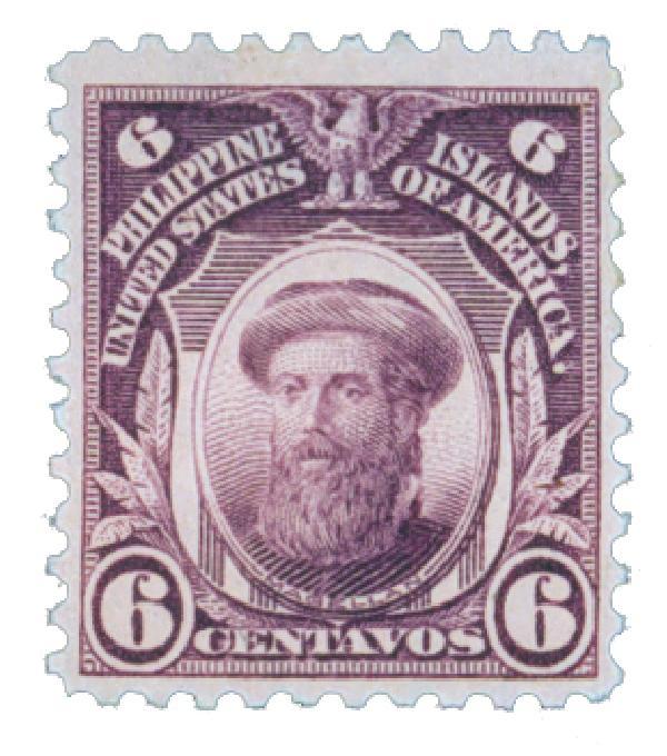 1917 6c Philippines, deep violet, unwatermarked, perf 11
