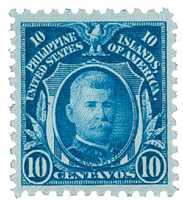 1917 10c Philippines, deep blue, unwatermarked, perf 11
